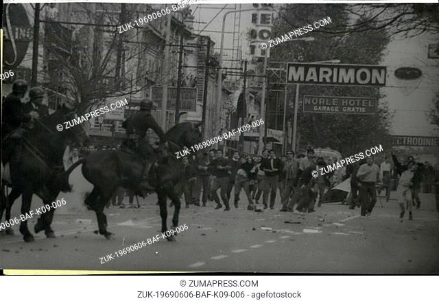 Jun. 06, 1969 - Very Serious Riots in Cordoba and other Argentine Cities. Cordoba : Several demonstrators died and hundred of arrests were taken by the police...