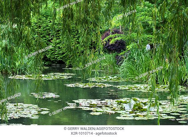 The lily pond at Monets Garden in Giverny, Normandy, France