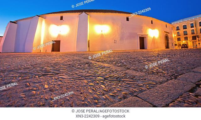 The bullring and Real Maestranza De Caballería De Ronda, Plaza de toros, Ronda, White Towns, Malaga province, Andalusia, Spain, Europe