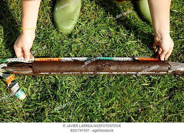 Peat sample, climate change research, Neiker-Tecnalia, Unit of Environment, Belate, Navarra, Spain
