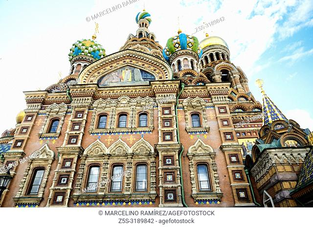 Detail Church of the Savior on Spilled Blood. Saint Petersburg, Northwestern, Russia