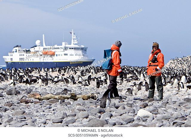 NAtural history staff from the Lindblad Expedition ship National Geographic Explorer doing various things in and around the Antarctic Peninsula in the summer...