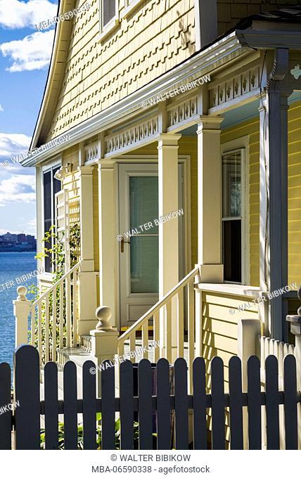 USA, Maine, Portland, Casco Bay, Peaks Island, island house detail