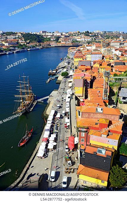 Schooner on Douro River Porto Portugal