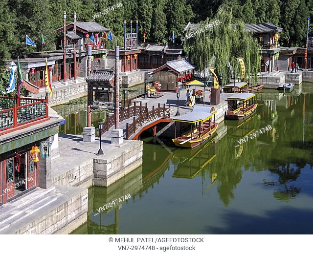 Suzhou Market Street, Summer Palace, Beijing, China, Asia. Suzhou Market Street is located inside Summer Palace in Beijing and can be entered via the North...