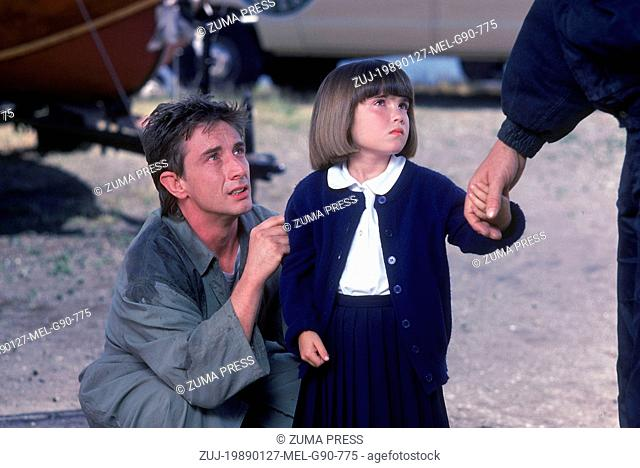 Jan 27, 1989; Los Angeles, CA, USA; MARTIN SHORT and SARAH ROWLAND DOROFF star as Perry and Meg in the action/comedy 'Three Fugitives' directed by Francis Veber