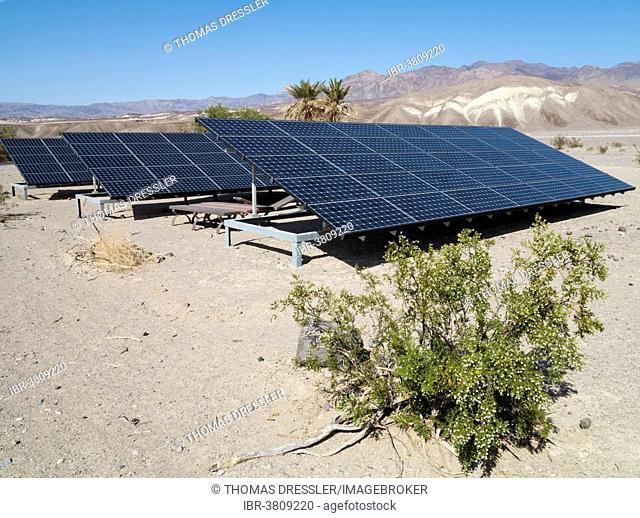 Solar panels, Death Valley, Death Valley National Park, California, USA