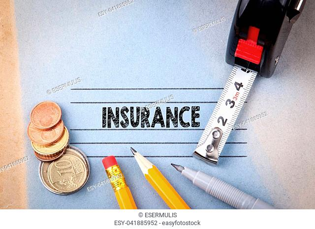Insurance concept. health and safety, informative background