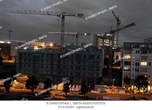Constant 24-7 building work in the old East Berlin now takes place, bringing two halves of one city closer together