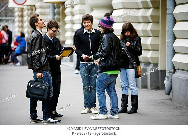 Sep 2008 - Group of young people, Moscow, Russia