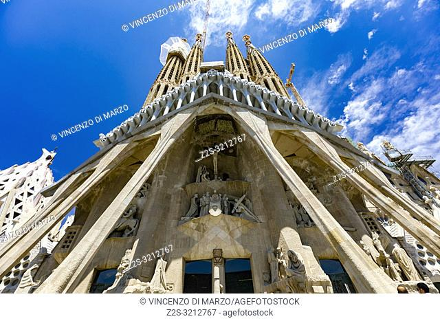 Church of Sagrada Familia by Antoni Gaudi, Barcelona, Spain