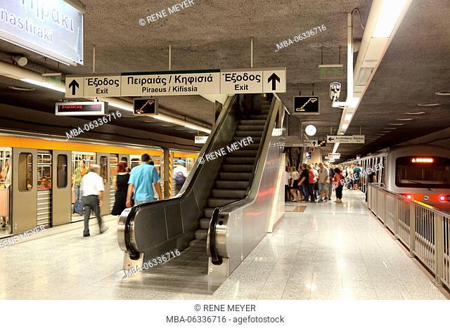 Greece Athens metro