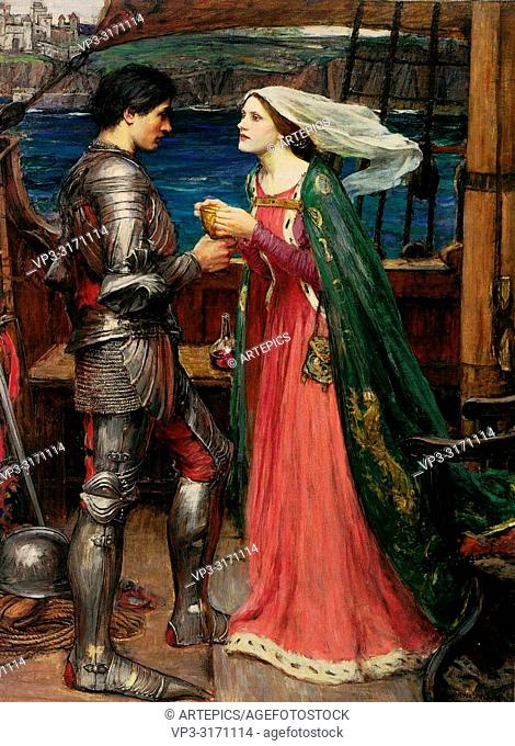 Waterhouse John William - Tristan and Isolde with the Potion 2