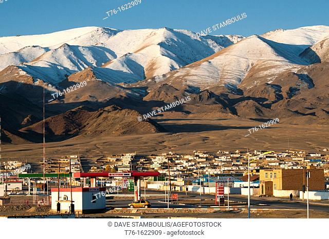 the onset of winter comes to Bayan-Ölgii in Western Mongolia