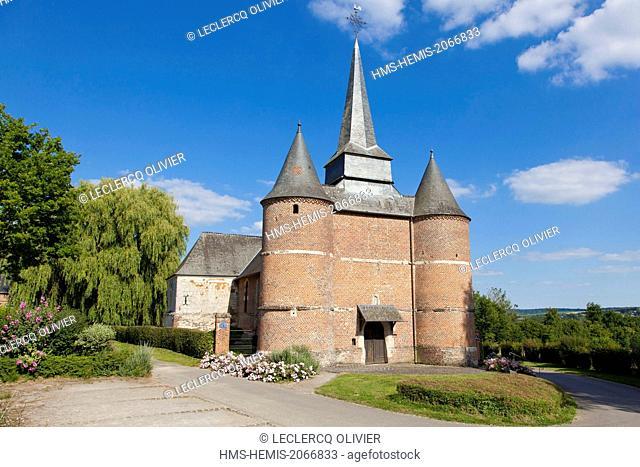 France, Aisne, Thierache region, fortified church of Gronard