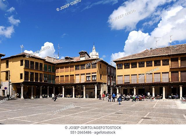 Main Square of Tordesillas, Valladolid province, Castilla y LeoÌ. n, Spain