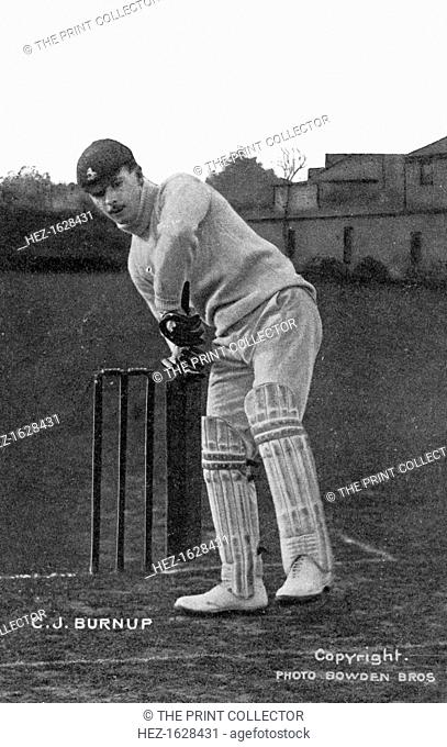 Cuthbert James Burnup (1875-1960), amateur cricketer and footballer, early 20th century. An English international in football