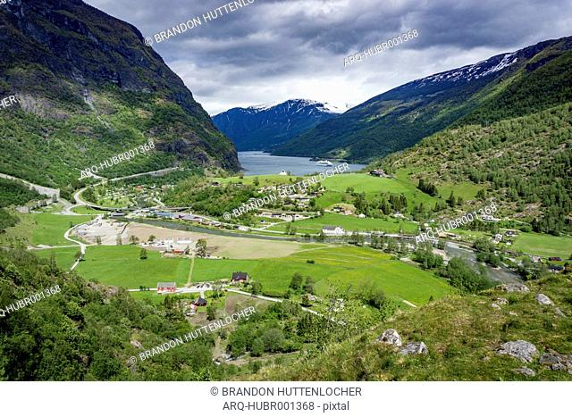 Scenic View Of Flam And Sognefjord In Norway