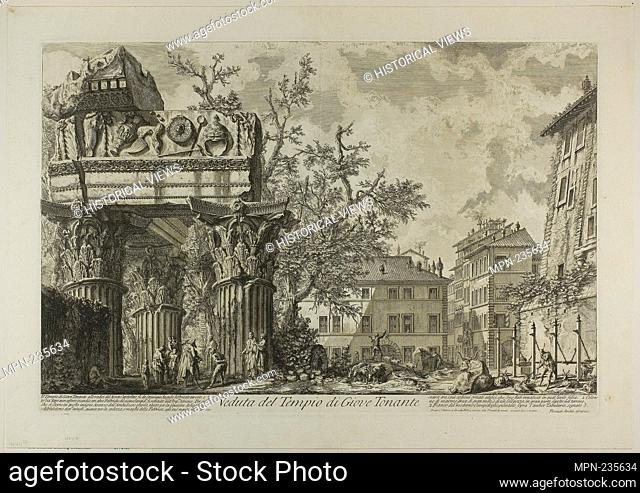 View of the Temple of Jupiter Tonans [Jupiter the Thunderer], from Views of Rome - 1750/59 - Giovanni Battista Piranesi Italian