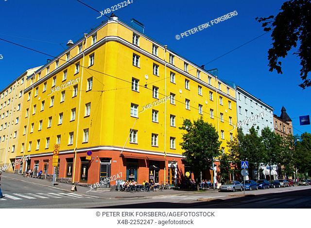 Helsinginkatu street, Kallio district, Helsinki, Finland, Europe