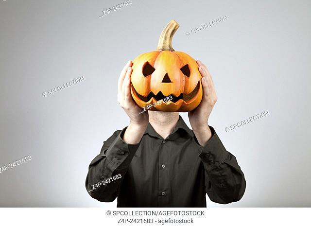 Scary face of a man for halloween