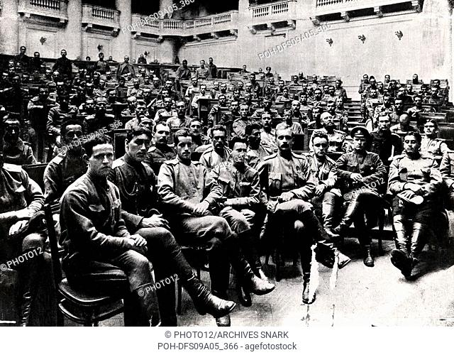 Congress of soldiers from the front in Petrograd, 1917 Russia, World War I