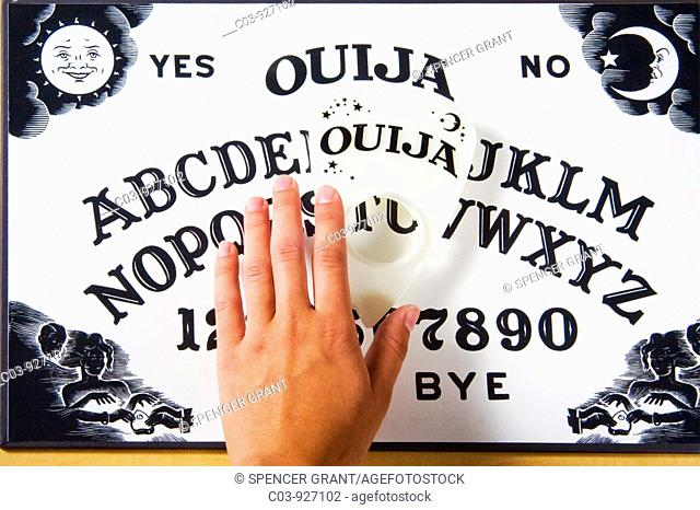 Planchette Or Ouija Board Stock Photos And Images Age Fotostock