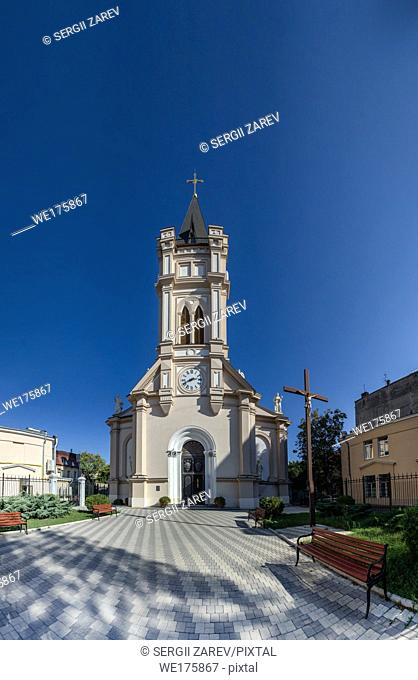 Odessa, Ukraine - 10. 11. 2018. Assumption of the Blessed Virgin Mary Cathedral in Odessa. A religious building belonging to the Catholic Church