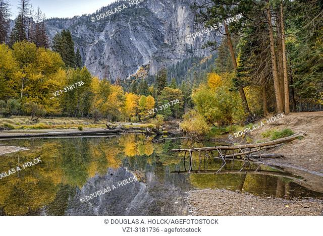 Autumn on the Merced River, Yosemite National Park, California, USA