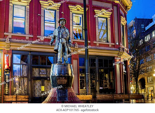 The Gassy Jack statue, Gastown, Vancouver, British Columbia, Canada