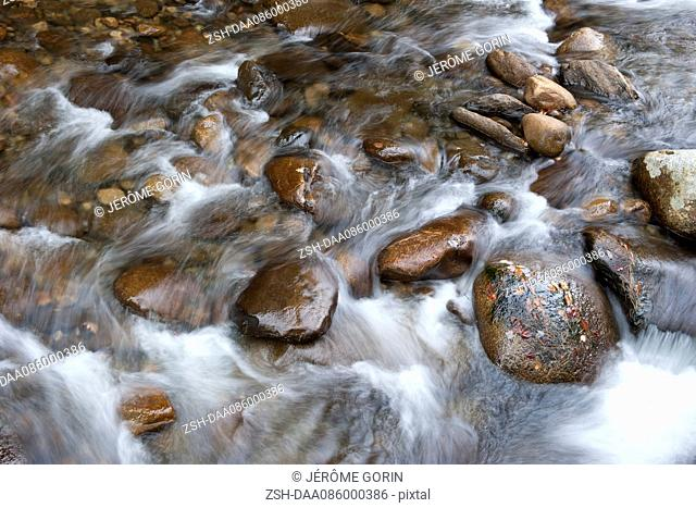 Stream flowing over rocks