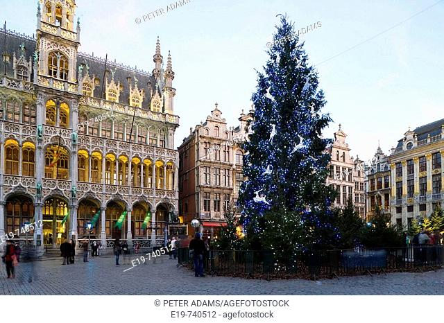 Christmas, Grand Place, Brussels, Belgium