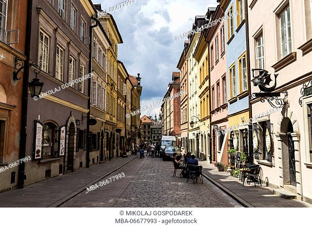 Europa, Poland, Voivodeship Masovian, Warsaw - the capital and largest city of Poland / Old Town