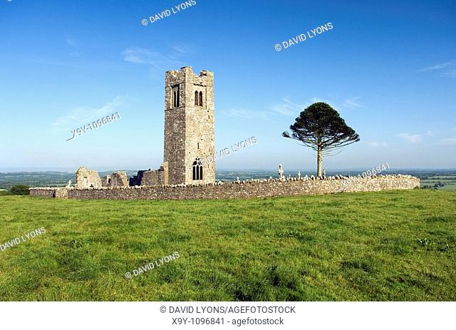 Slane Friary on the Hill of Slane, overlooking the Boyne Valley, north of Tara, County Meath, Ireland  St  Patrick location