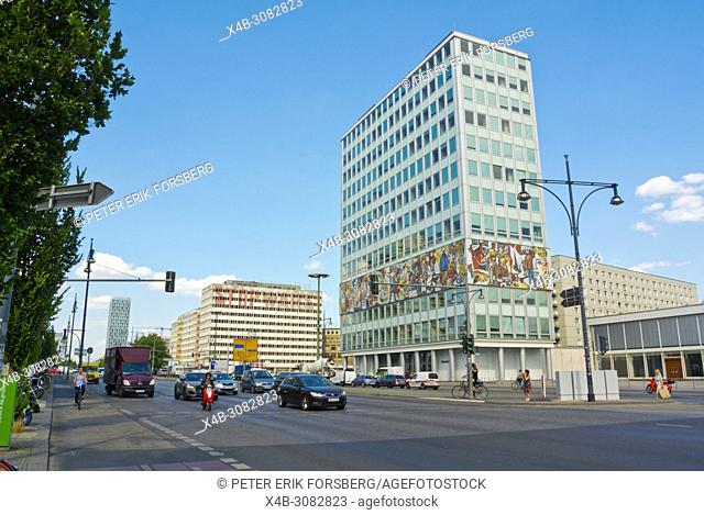 Alexanderstrasse, with Haus des Lehrers, Berlin, Germany