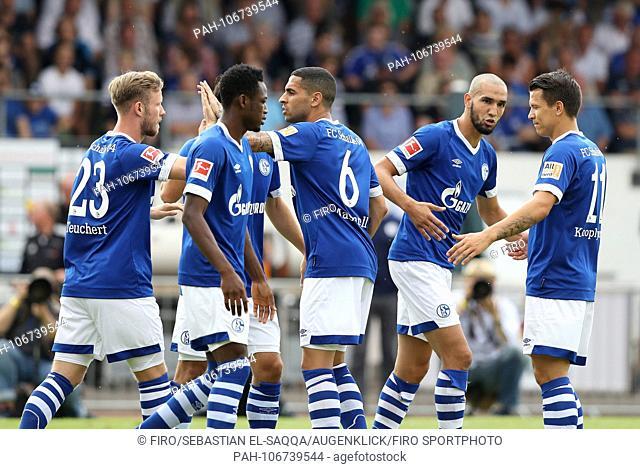 firo: Fuvuball, football, 21.07.2018 1st Bundesliga, 1st BL season 2018/2019 S04 FC Schalke 04, friendly match, friendly match