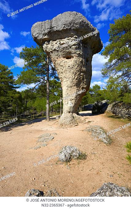 Ciudad Encantada, Enchanted city, El Tormo Alto, Rock Formations, Serrania de Cuenca, Cuenca province, Castilla-La Mancha, Spain