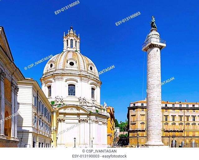 Santissimo Nome di Maria Rome church. Italy