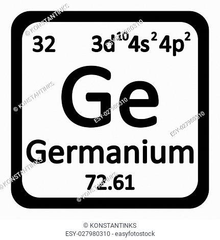 Periodic table element germanium icon on white background. Vector illustration