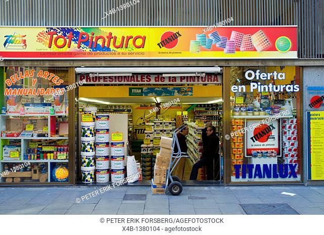 Paint shop Carrer Nou de la Rambla street El Raval district Barcelona Catalunya Spain Europe