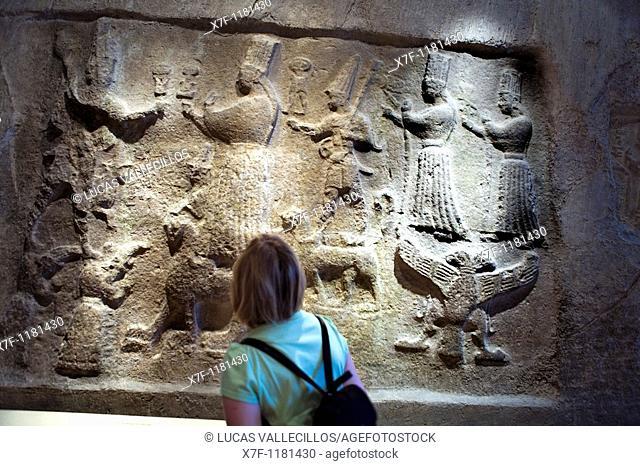 Museum Island Pergamonmuseum  relief assyrian  Berlin  Germany