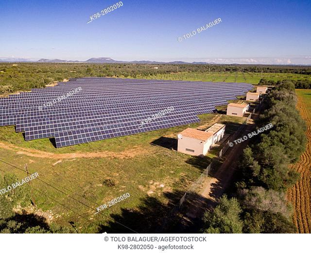Solar photovoltaic park Marina de llucmajor, Mallorca, balearic islands, spain, europe
