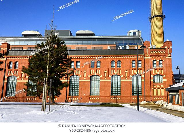 EC 1 - The first city power plant in Lodz was opened in 1907 at Targowa street and operated until 2001, from 2008 the whole complex of buildings of the former...