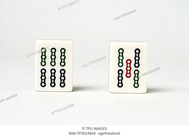Studio shot of mahjong