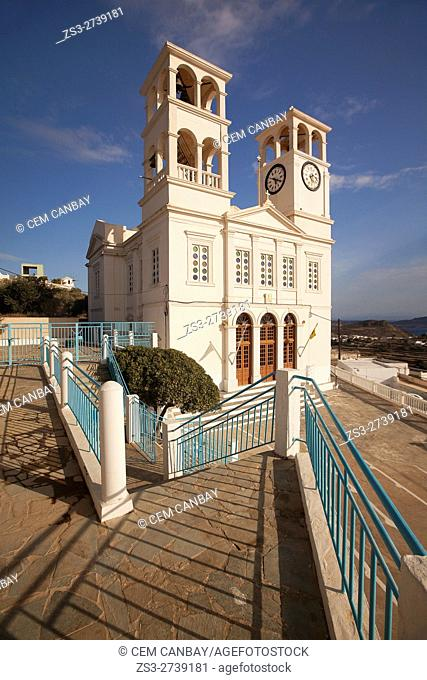 The Church of Agios Nikolaos in Tripiti village, Milos, Cyclades Islands, Greek Islands, Greece, Europe