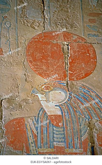 Sunken-relief,egyptian god Horus,Egypt