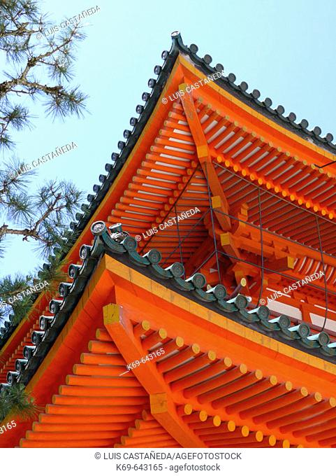 Detail of the Roof. Heian Shrine. Kyoto. Japan