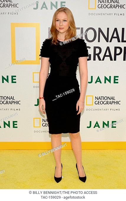 "Molly Quinn arrives at the Los Angeles Premiere of National Geographic Documentary Films' """"Jane"""" at the Hollywood Bowl in Hollywood, California on October 9"