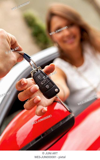 Hand-over of car keys