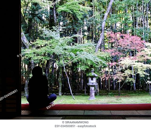 Garden of Koto-in a sub-temple of Daitoku-ji - Kyoto, Japan